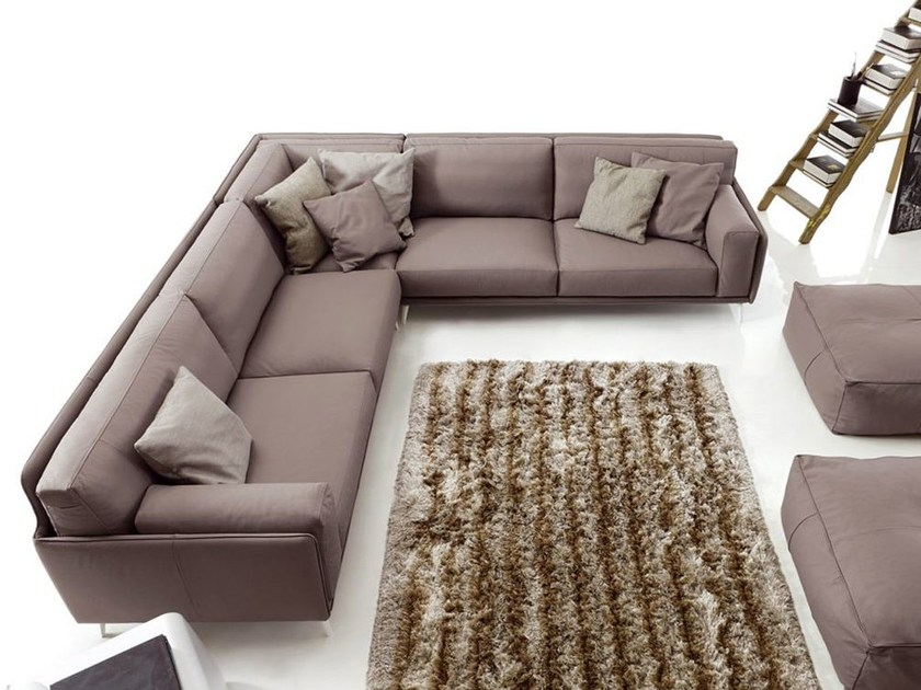 Corner sectional leather sofa KRIS LEATHER by Ditre Italia