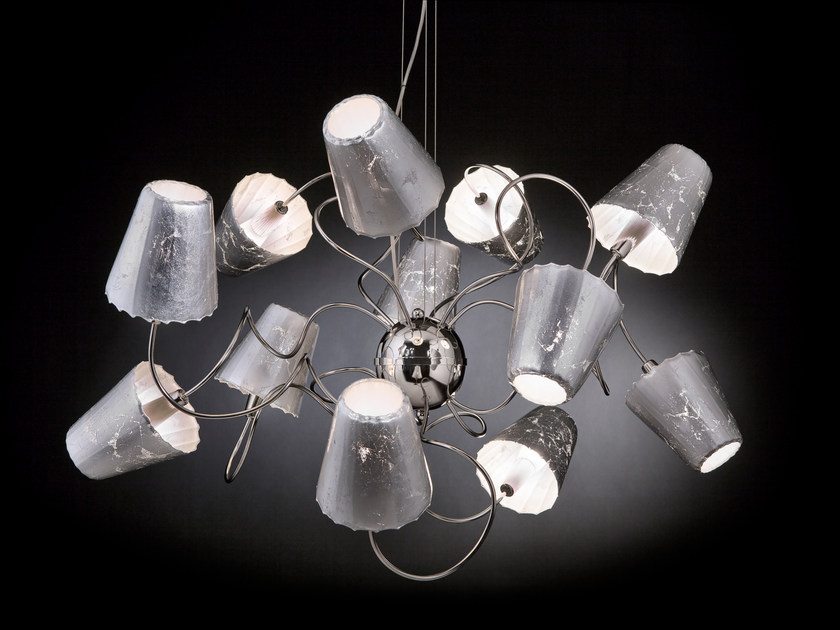 Silver leaf pendant lamp ARIA | Pendant lamp - Metal Lux di Baccega R. & C.