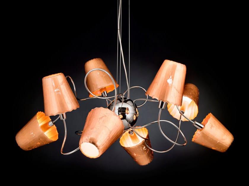 Copper leaf pendant lamp ARIA | Pendant lamp - Metal Lux di Baccega R. & C.