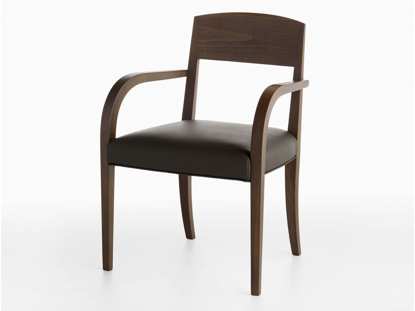 Upholstered beech chair with armrests LASA P | Chair with armrests - Crassevig