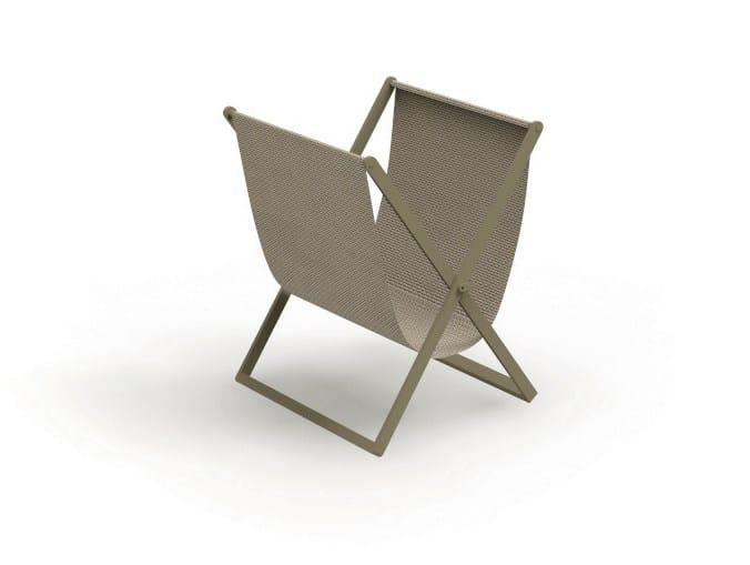Folding textilene magazine rack CHIC | Magazine rack - Talenti