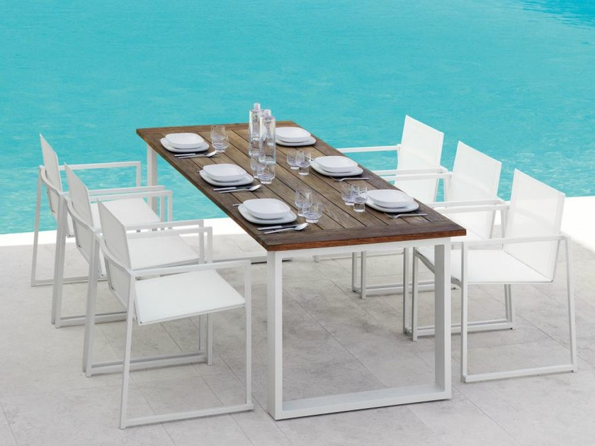 Rectangular teak garden table ESSENCE | Garden table by Talenti