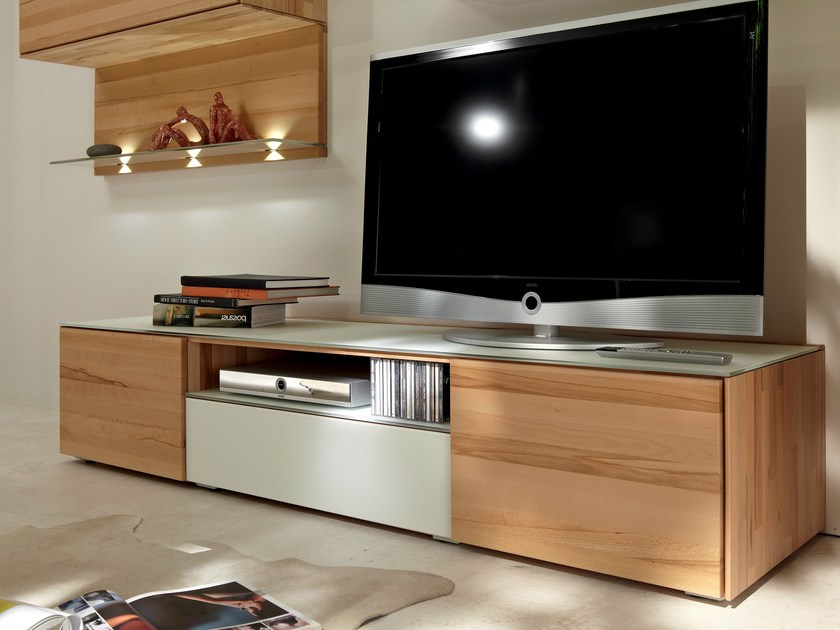 mobile tv basso in legno massello elea ii collezione elea ii by h lsta werke h ls. Black Bedroom Furniture Sets. Home Design Ideas