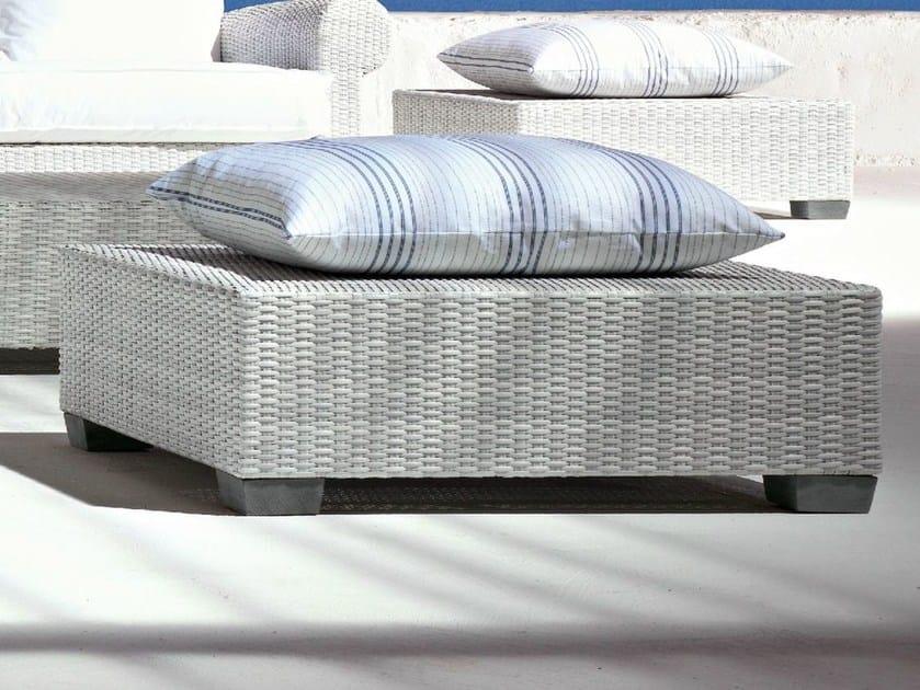 Low Square polyethylene garden side table INOUT 311 - Gervasoni