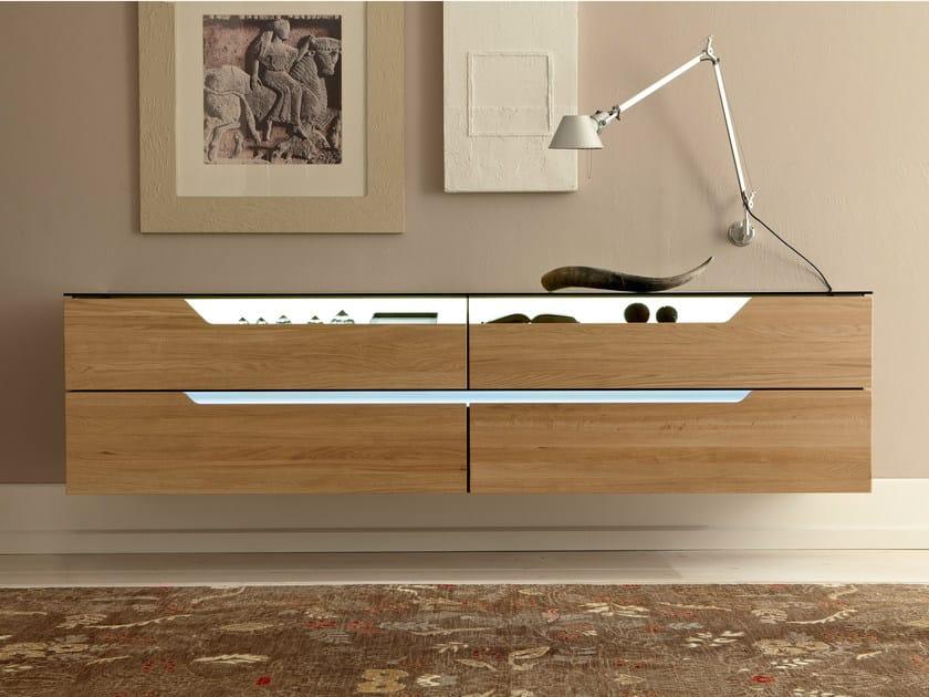 wand sideboard aus eichenholz mit schubladen carva kollektion carva by h lsta werke h ls. Black Bedroom Furniture Sets. Home Design Ideas