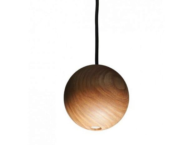 LED wooden pendant lamp CAFÉ BASIC JRV1 - Nikari