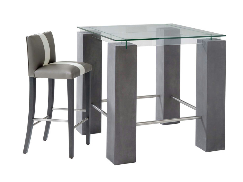 Square high table TENERE | High table by ROCHE BOBOIS