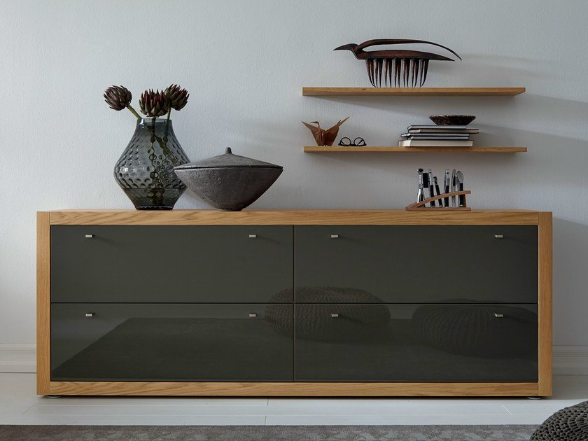Lacquered oak sideboard with drawers XELO | Sideboard with drawers - Hülsta-Werke Hüls