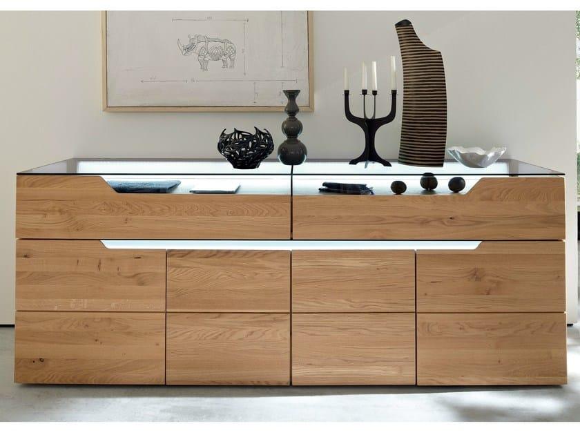 sideboard aus eichenholz mit t ren mit schubladen carva kollektion carva by h lsta werke h ls