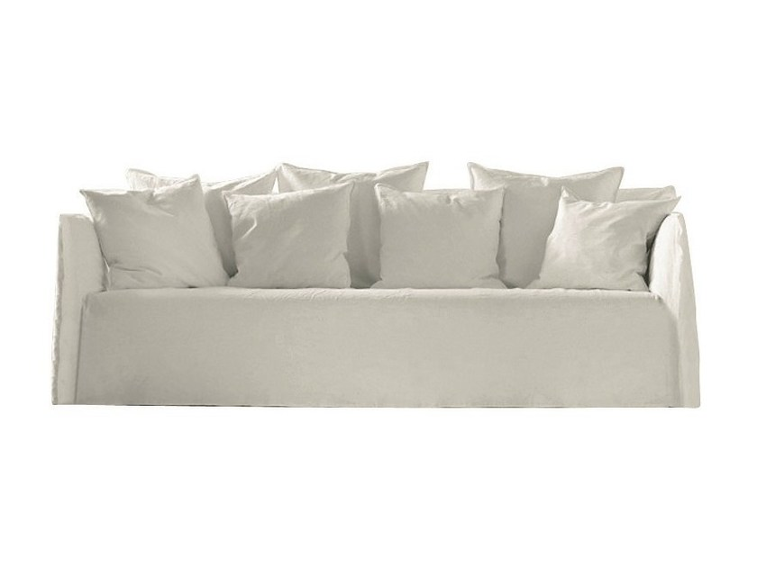 4 seater sofa with removable cover GHOST 14 - Gervasoni