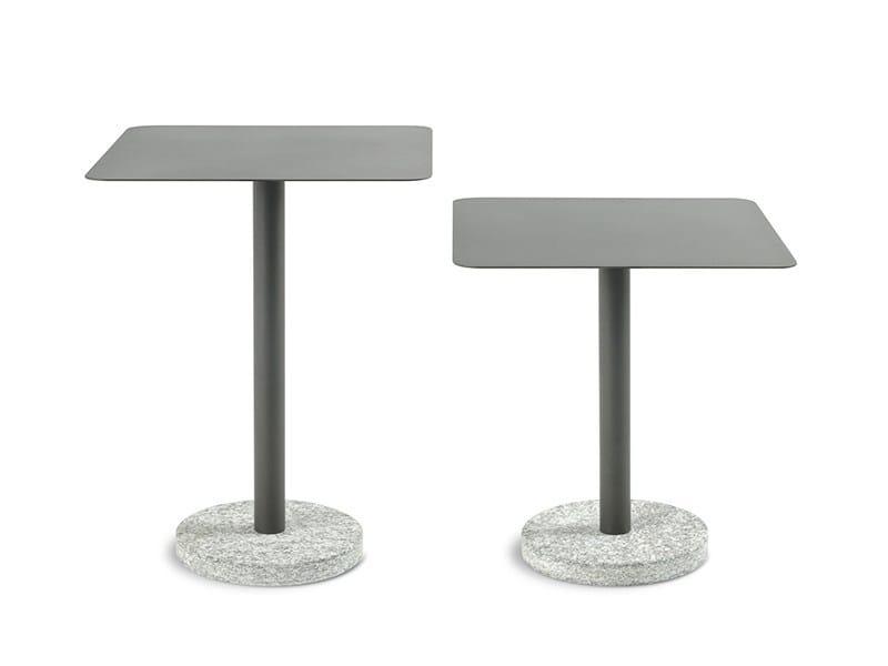 Round steel garden side table BERNARDO | Garden side table by RODA