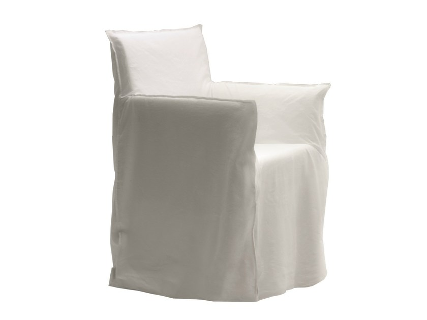 Fabric easy chair with removable cover GHOST 24 - Gervasoni