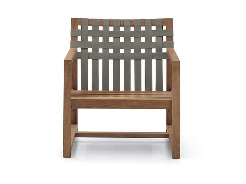 Teak garden armchair with armrests NETWORK | Garden armchair - RODA