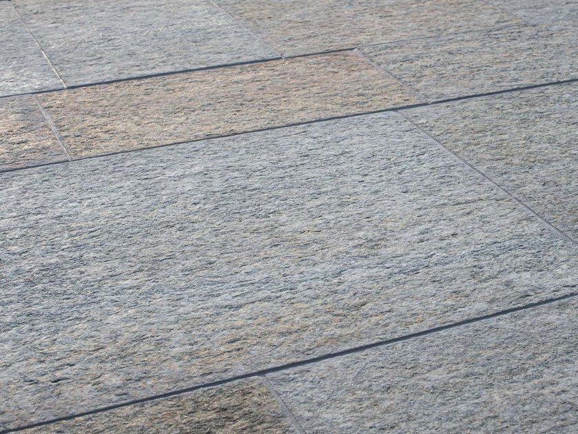 Indoor/outdoor natural stone flooring LUSERNA FIAMMATA MISTA | Natural stone flooring by B&B Rivestimenti Naturali