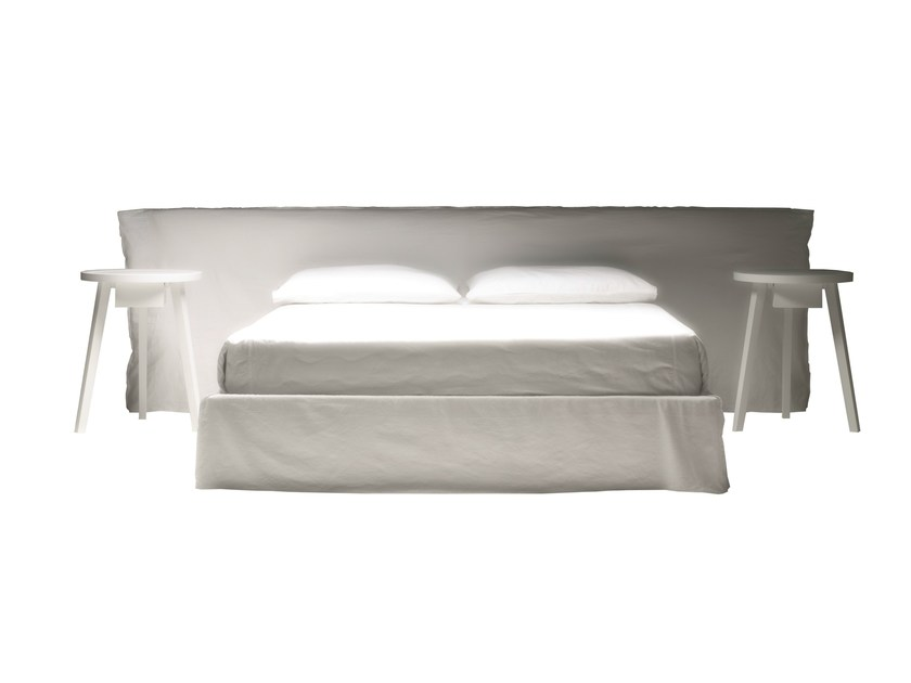 Double bed with removable cover GHOST 81 - Gervasoni