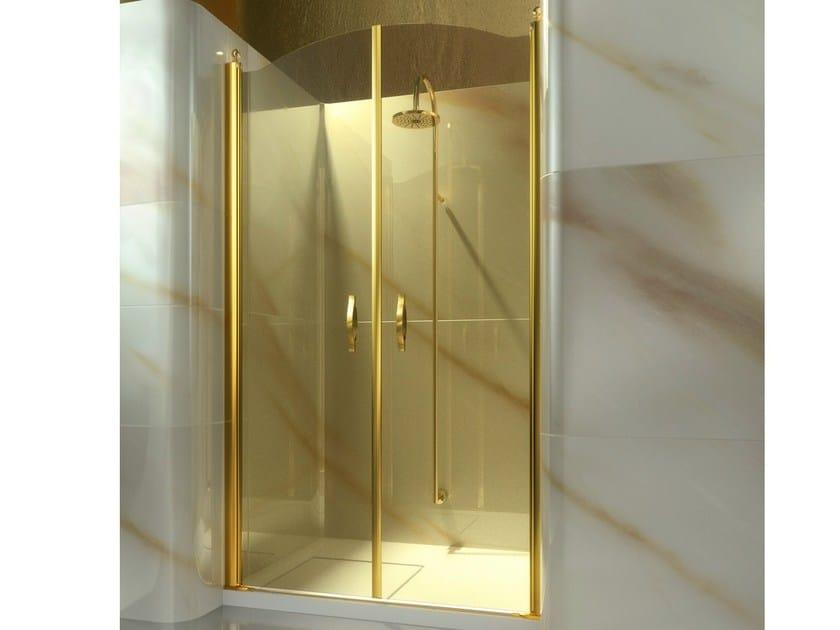 Niche custom tempered glass shower cabin GOLD AD - VISMARAVETRO