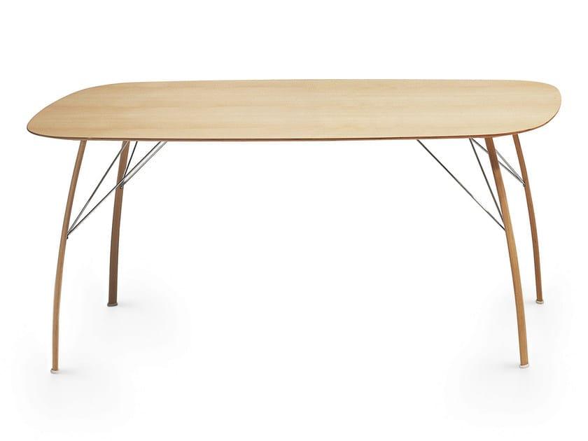 Wooden table SOSPESO O - Crassevig