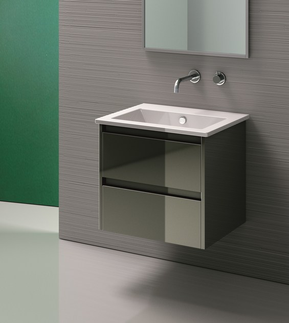 Inset rectangular ceramic washbasin STAR 60 | Inset washbasin - CERAMICA CATALANO