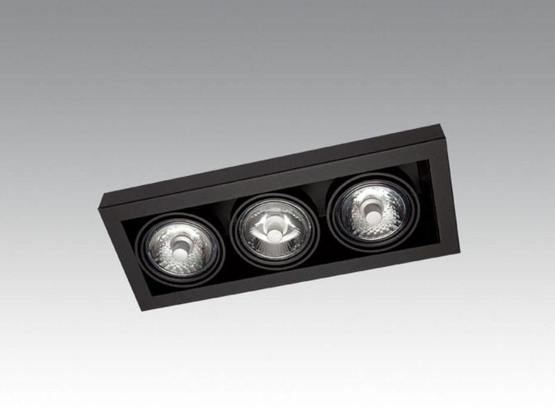 Semi-inset ceiling spotlight LOOK IN TRIPLE - Orbit