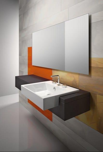 Semi-inset ceramic washbasin PREMIUM 55X47 | Semi-inset washbasin - CERAMICA CATALANO