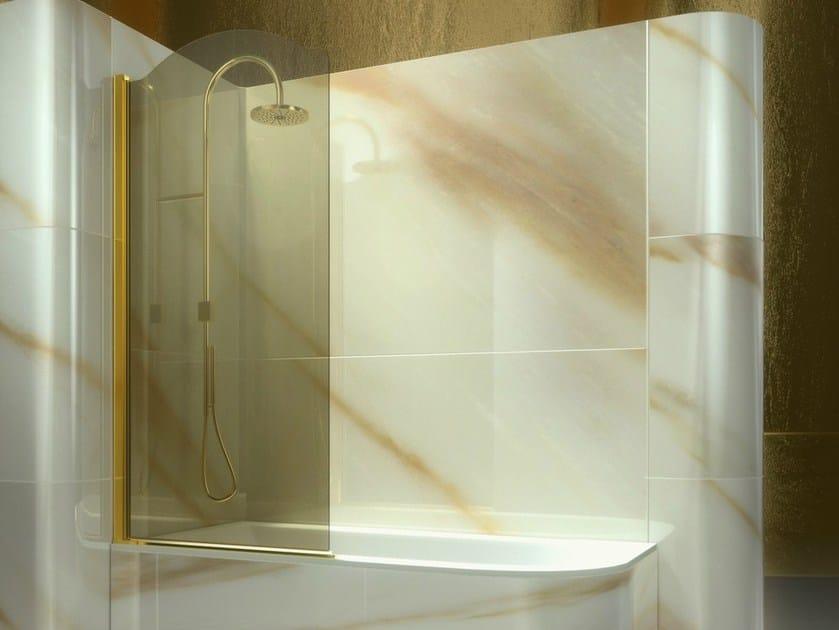 badewannen duschwand aus geh rtetem glas gold av kollektion gold by vismaravetro design centro. Black Bedroom Furniture Sets. Home Design Ideas