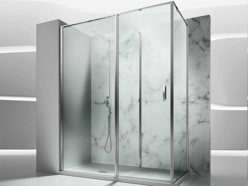 Corner tempered glass shower cabin IN 2 by VISMARAVETRO