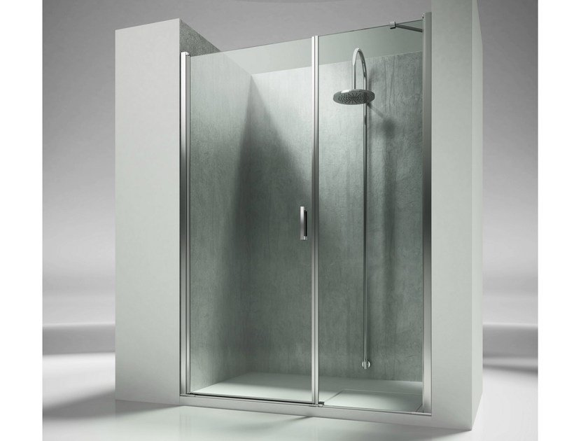 Niche rectangular custom tempered glass shower cabin LINEA L2 - VISMARAVETRO