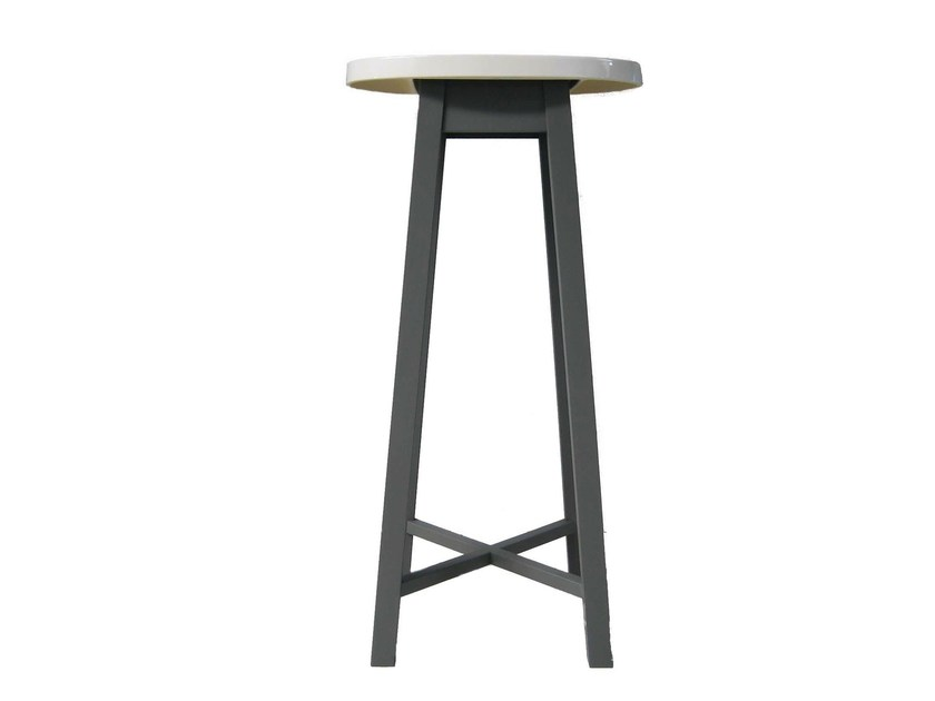 Oval high side table GRAY 47 by Gervasoni