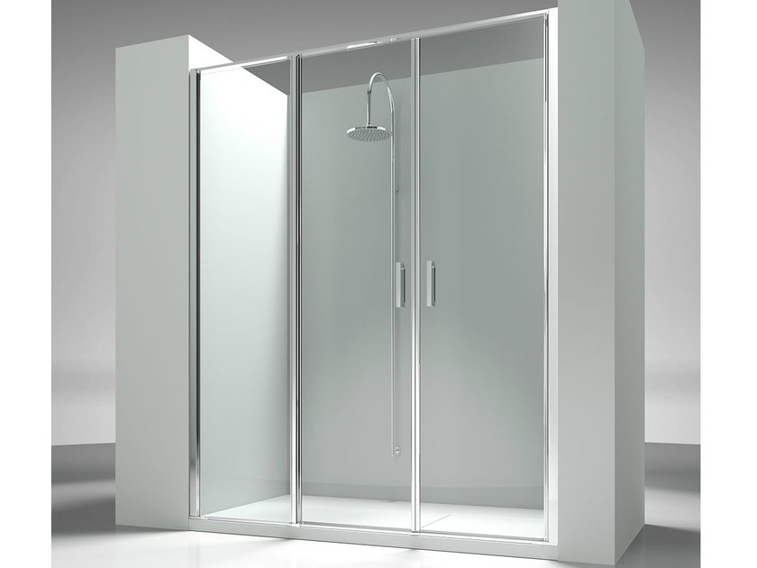 Niche custom tempered glass shower cabin LINEA L3 - VISMARAVETRO