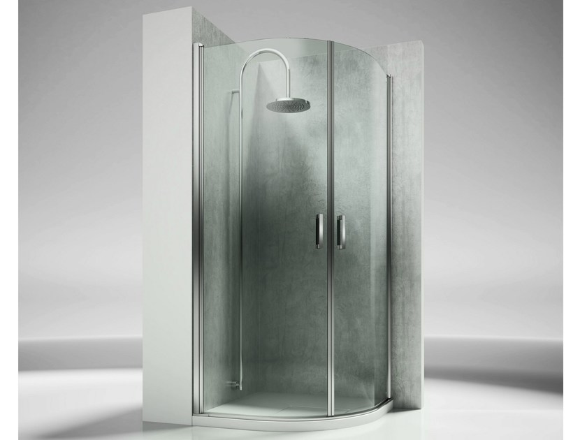 Corner semicircular custom tempered glass shower cabin LINEA LT - VISMARAVETRO