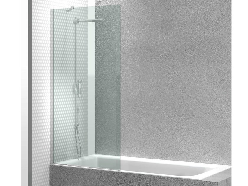 Tempered glass bathtub wall panel LINEA FB - VISMARAVETRO