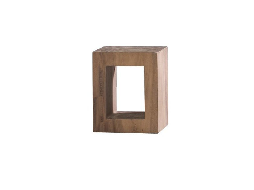 Low wooden coffee table BRICK 41 by Gervasoni