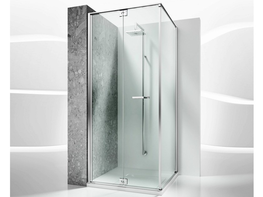 Corner custom tempered glass shower cabin REPLAY RA+RF - VISMARAVETRO