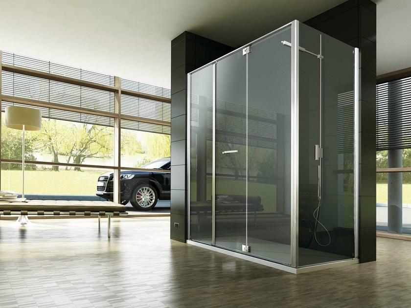Corner custom tempered glass shower cabin REPLAY RM+RG - VISMARAVETRO