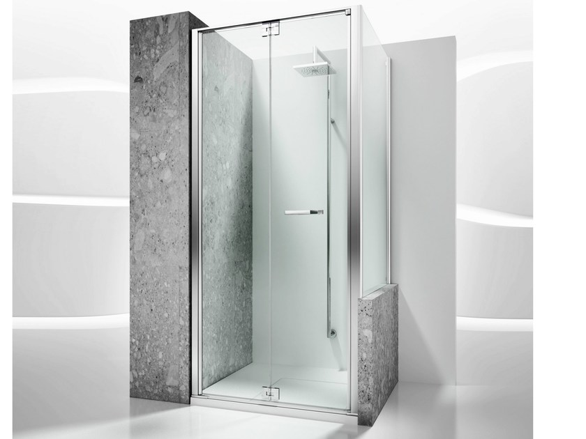 Custom tempered glass shower wall panel REPLAY RN+RV - VISMARAVETRO