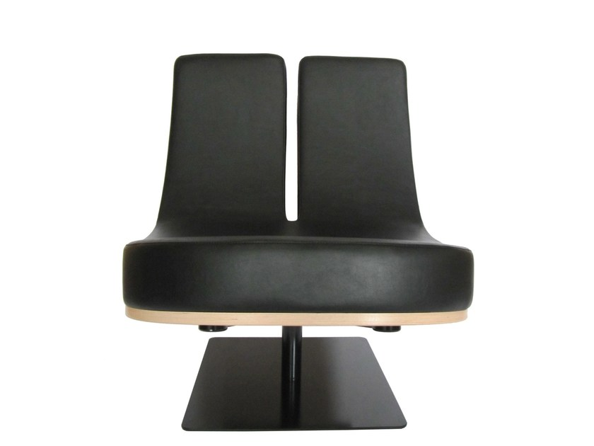 Upholstered guest chair TYPOGRAPHIA U - TABISSO