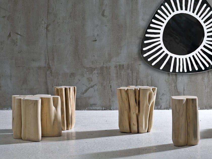 pouf tavolino in legno brick l by gervasoni design paola navone. Black Bedroom Furniture Sets. Home Design Ideas