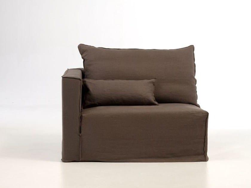 Corner armchair with removable cover BRICK 07 - Gervasoni