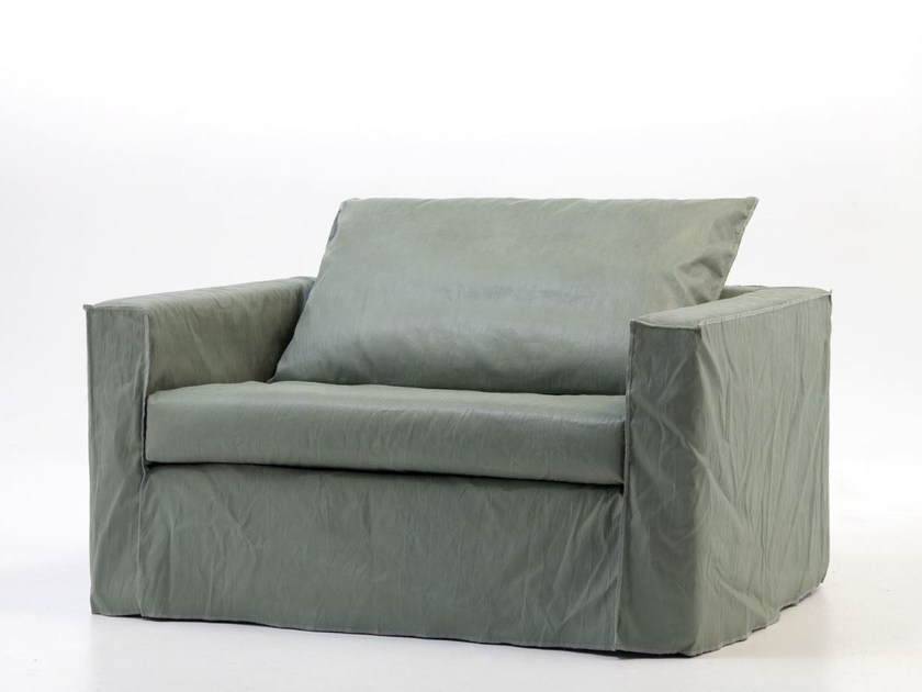 Armchair bed with removable cover BRICK 11 - Gervasoni