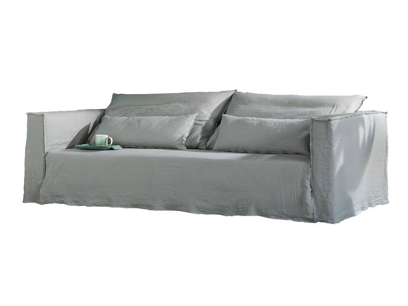 3 seater sofa with removable cover BRICK 12 - Gervasoni
