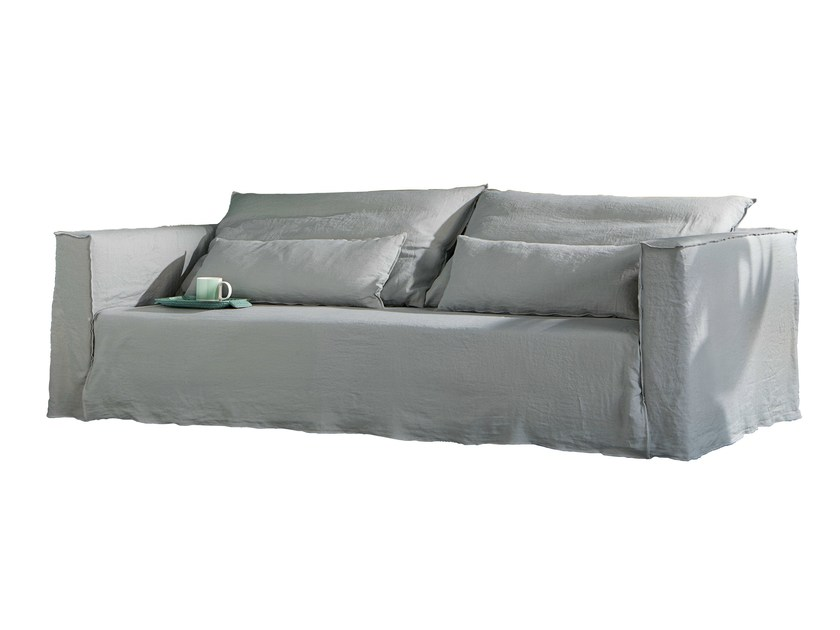3 seater sofa with removable cover BRICK 10 12 - Gervasoni