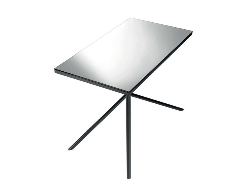 Rectangular steel table ILLUSION - Objekto