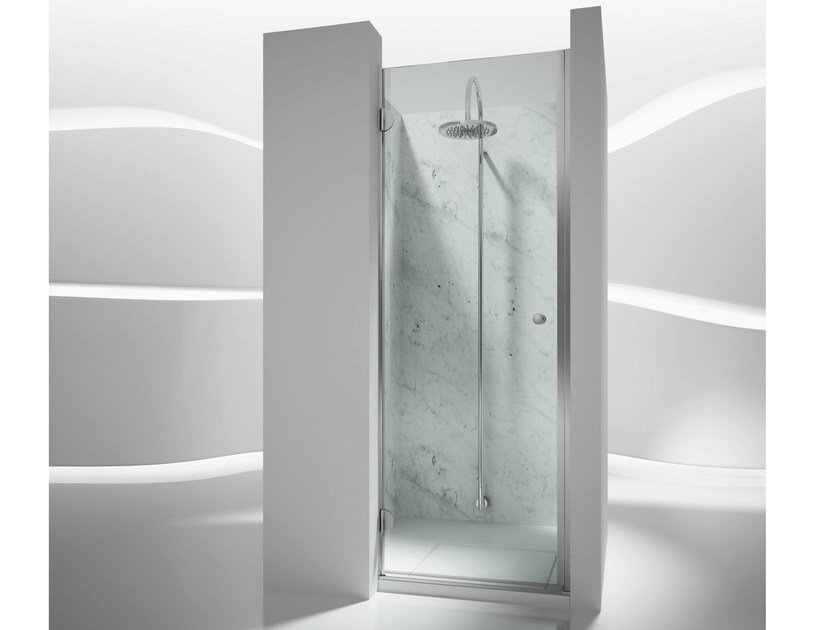 Niche custom tempered glass shower cabin SINTESI SL by VISMARAVETRO