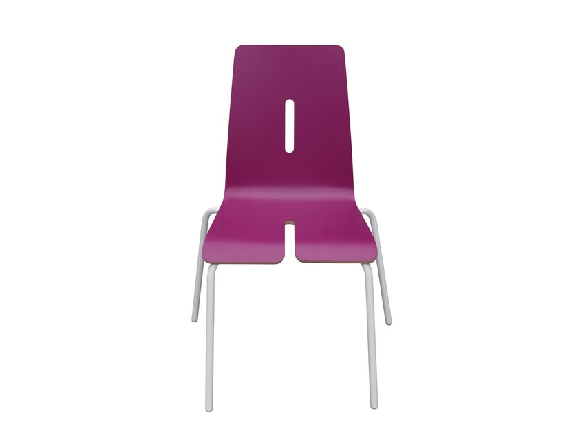 Lacquered kids chair TYPOGRAPHIA KIDS A - TABISSO