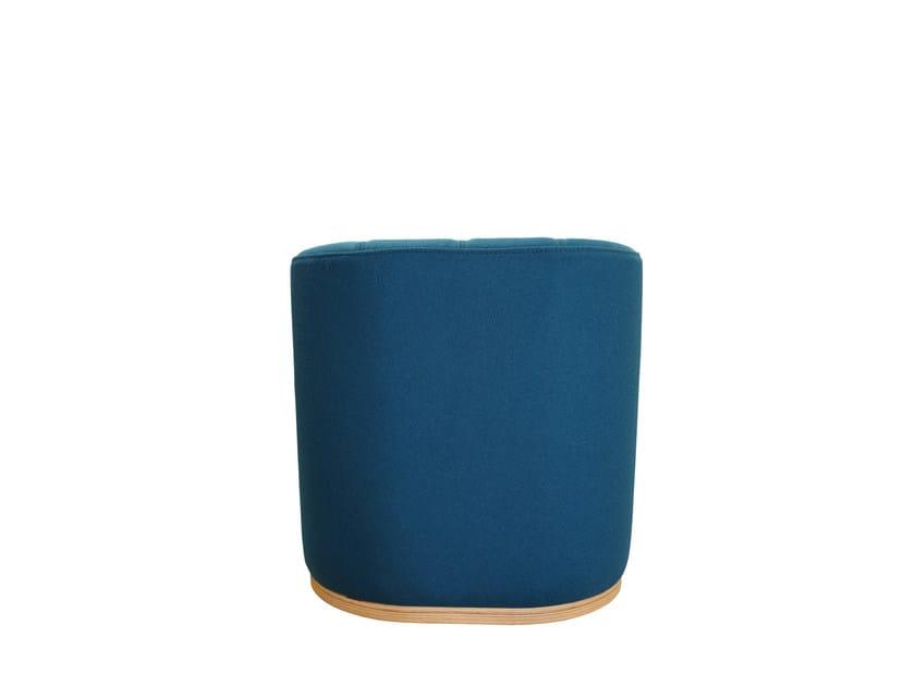 Upholstered fabric pouf UNITA SMALL | Pouf - TABISSO