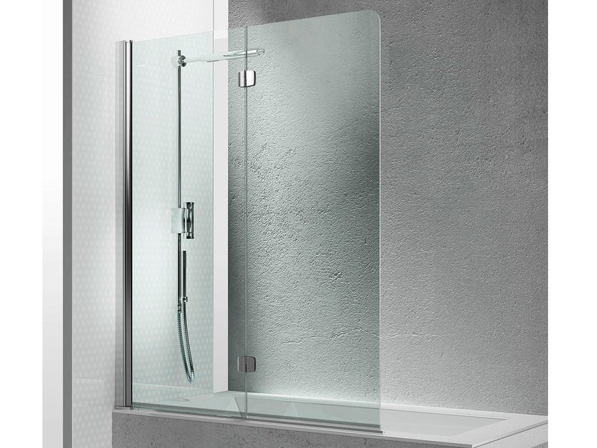Folding tempered glass bathtub wall panel SINTESI SV - VISMARAVETRO