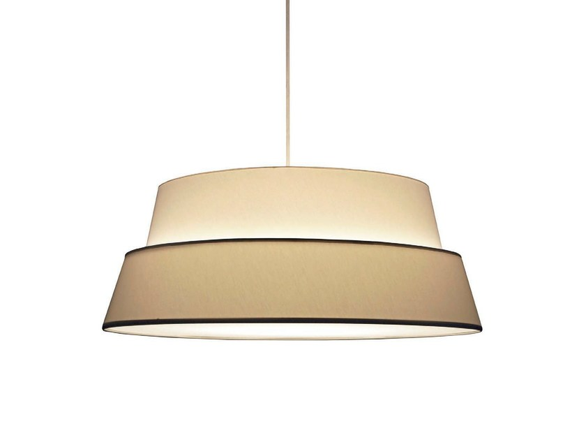 Direct light fabric pendant lamp PHOTO - Objekto