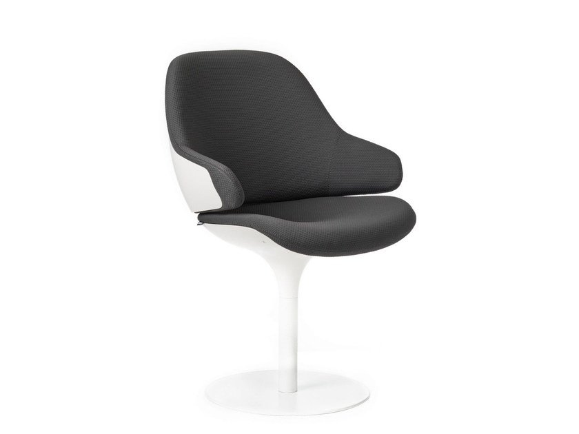Swivel easy chair with armrests CIEL! TULIPE - TABISSO