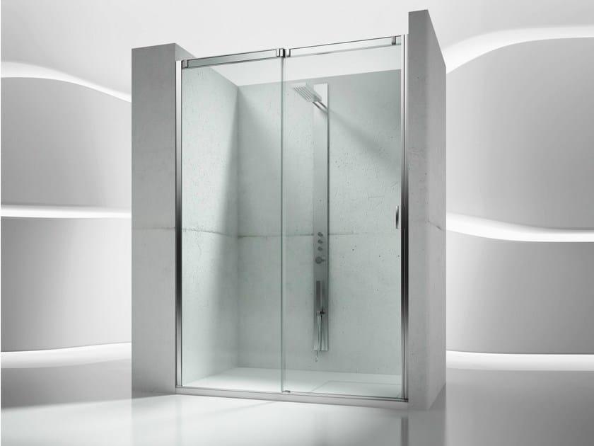 Niche tempered glass shower cabin with sliding door SLIDE VN - VISMARAVETRO