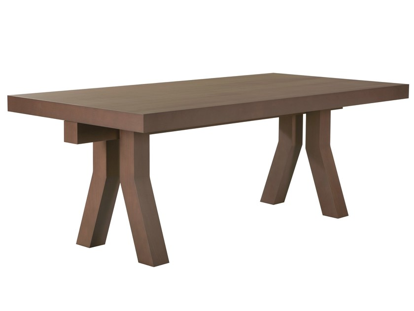 Wood veneer dining table SILLY - AZEA